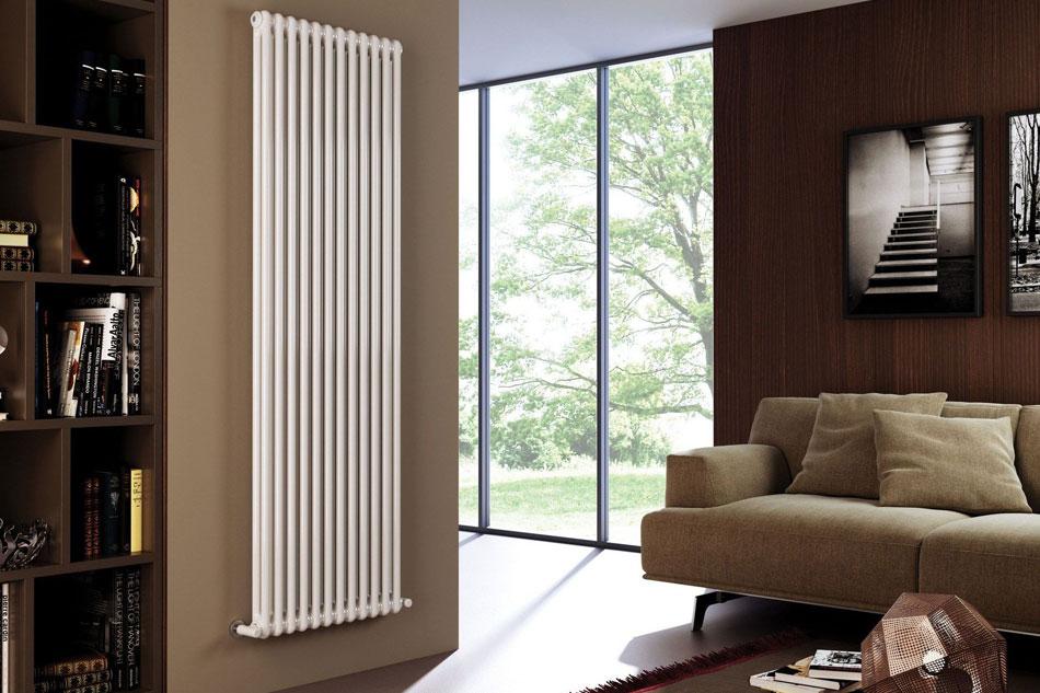 монтаж вертикального радиатора отопления